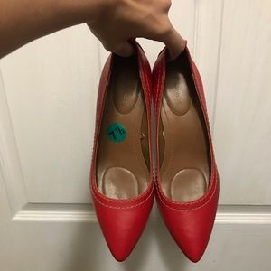 Calvin Klein Red small heel US size 7 1/2